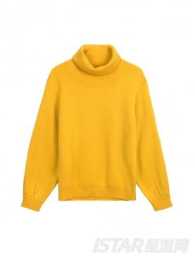 灯笼袖宽松保暖高领舒适毛衣