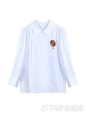 可爱泡泡袖复古宫廷长袖衬衫