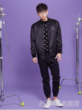 时尚复古黑个性修身长裤