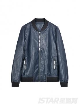 时尚哑光PU拼接舒适保暖外套