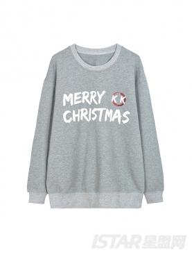 K哥字恋系列圣诞定制款休闲圆领舒适卫衣