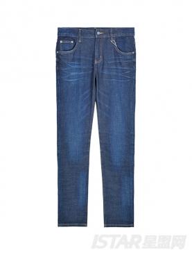 舒适修身窄脚时尚牛仔裤