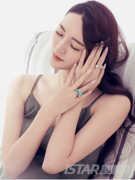 心动粉色红纹石镶嵌戒指