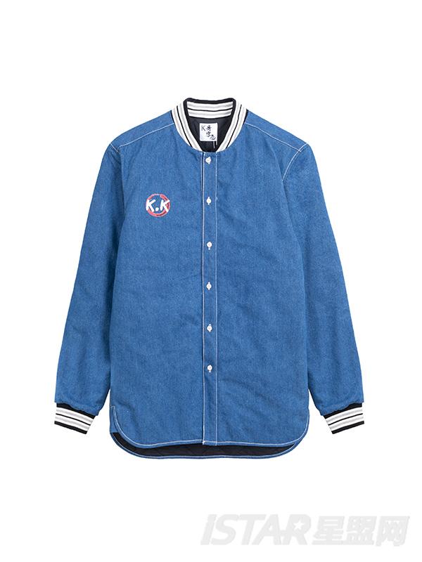 K哥字恋系列定制款条纹装饰运动廓型时尚衬衫