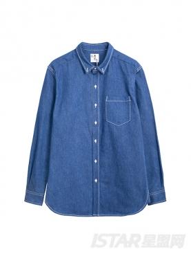 K哥字恋系列定制款个性潮流长袖舒适牛仔衬衫