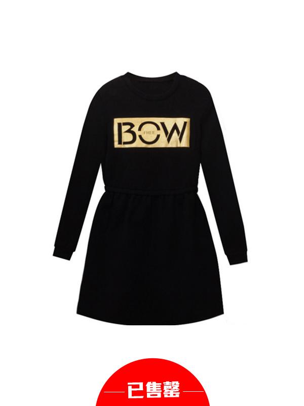 定制字母卫衣裙