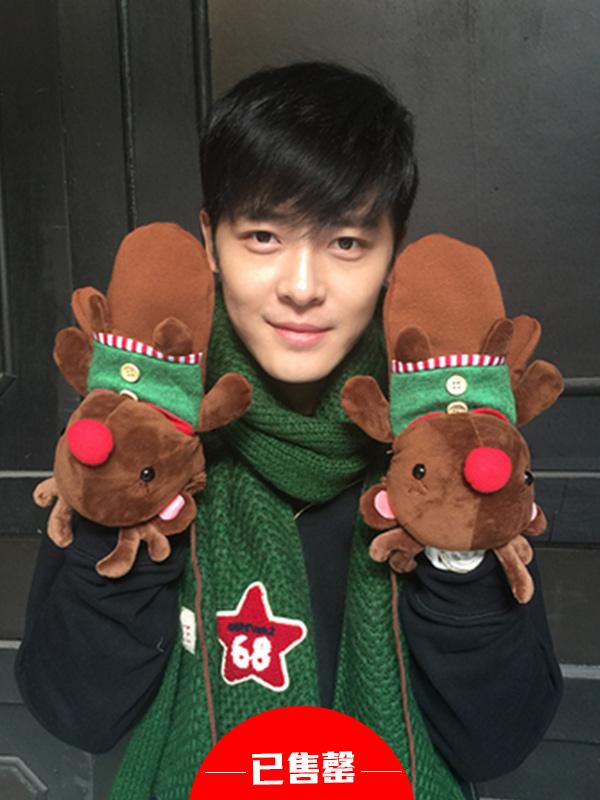 圣诞小鹿手套