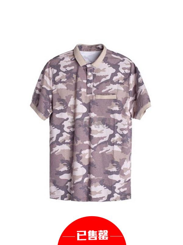 立领男士T恤