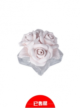 玫瑰水晶香薰座