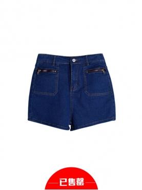 高腰牛仔短裤