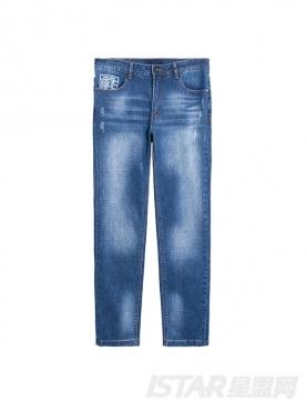 经典复古水洗小脚牛仔裤