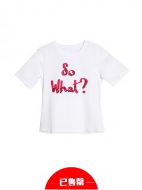 字母圆领短袖T恤