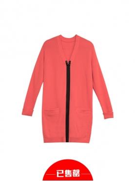 西瓜红针织外套