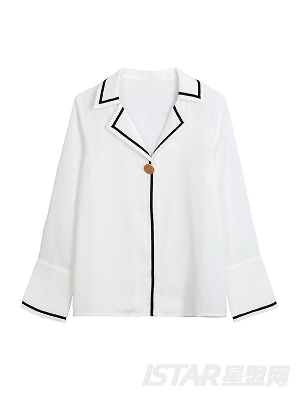 白色雪纺衬衫