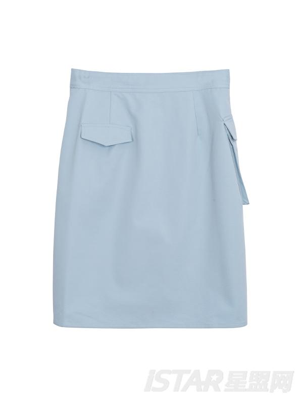 拉链口袋半身裙