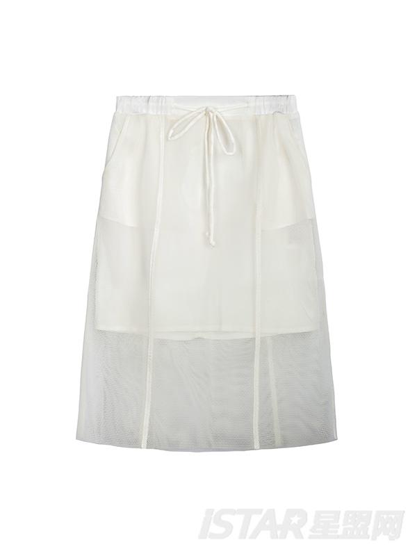 网纱镂空半身裙
