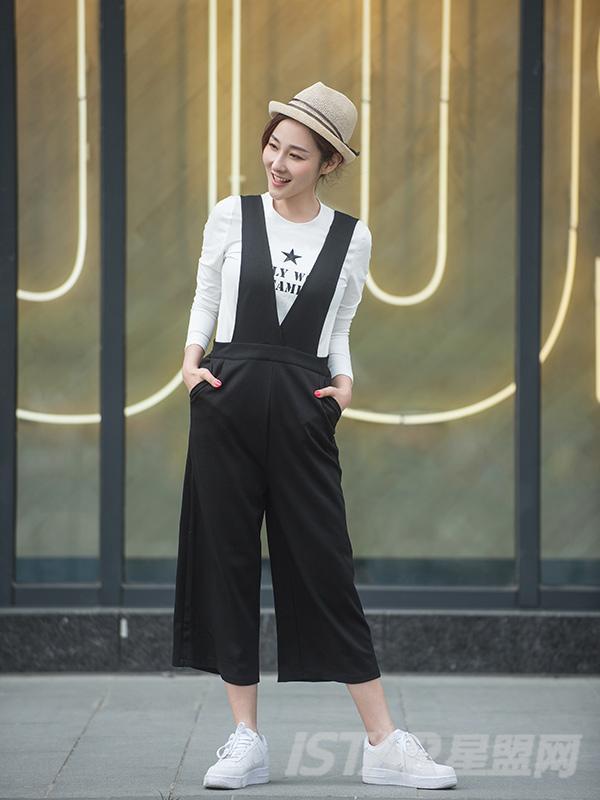 简约背带裤裙裤