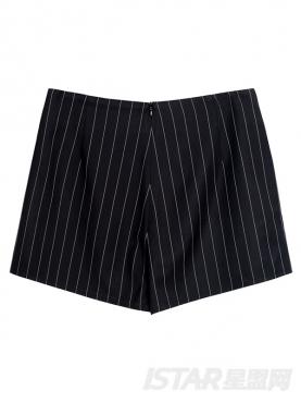 经典复古竖条纹裤裙短裤
