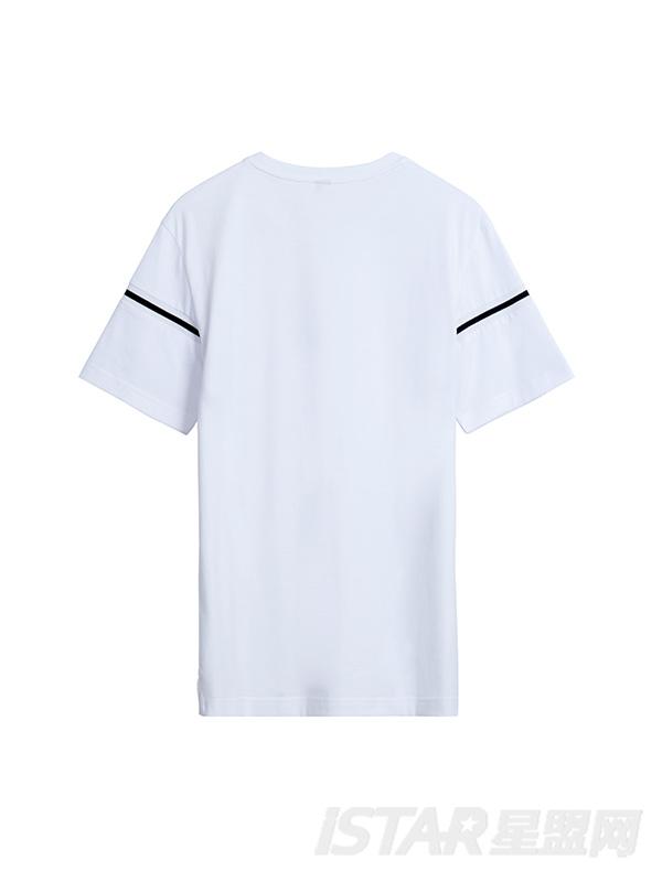 简约分割线设计T恤