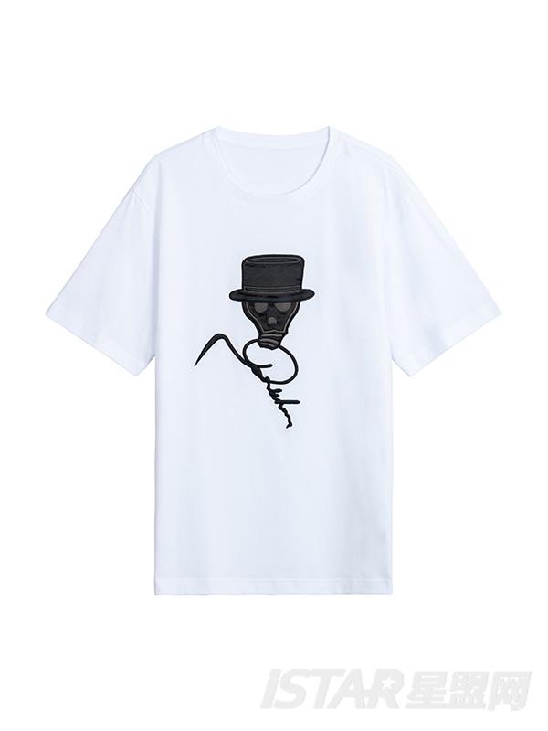 人头印花T恤