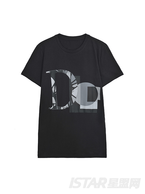 字母印花定制款T恤