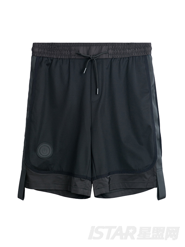 简约拼接短裤