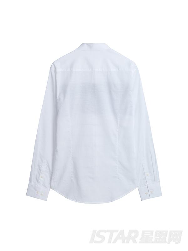 长袖色织条纹衬衫