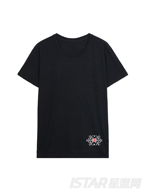 K哥字恋定制款抽象花纹印花T恤