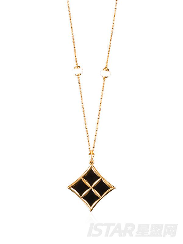 SU-STYLE品牌幸运星系列黑玛瑙珠宝项链