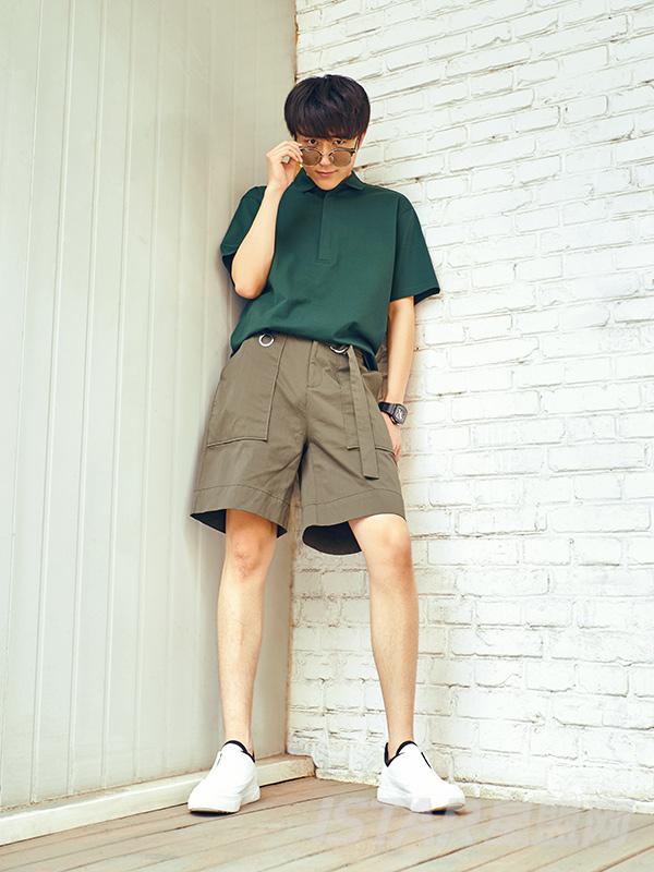 个性腰带设计短裤