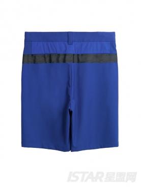 时尚蓝简约休闲短裤