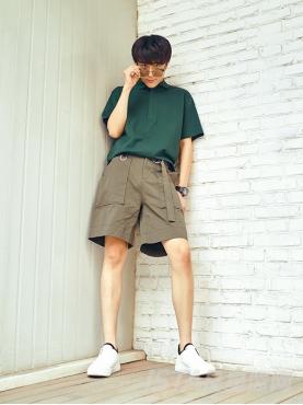 个性腰带设计舒适休闲短裤