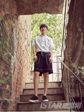 个性分割线设计潮流型男短裤