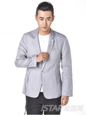 优雅灰简约单层舒适西装外套