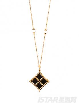 Su Style品牌幸运星系列黑玛瑙珠宝项链