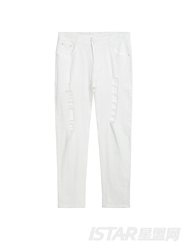FREEBOW品牌定制破洞牛仔裤