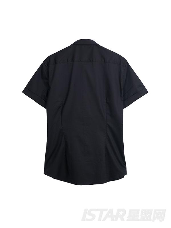 不对称印花衬衫