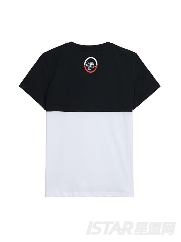 MR.HU品牌拼色字母T恤