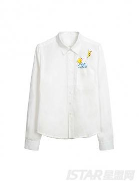 【票号款】优雅白舒适纯棉情侣款男衬衫