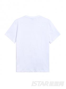 个性天空印花图案设计休闲圆领纯棉T恤