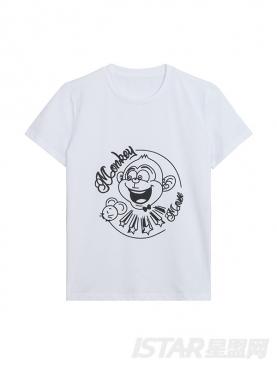 定制款MR.HU品牌舒适纯棉亲子装T恤の儿童款