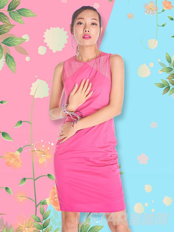 气质女神修身网格拼接连衣裙