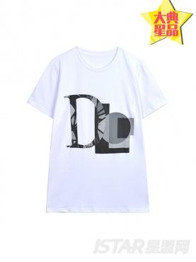 个性字母印花定制款短袖纯棉T恤