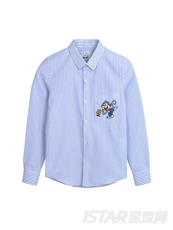 MR.HU品牌条纹衬衫