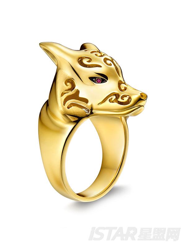 三生三世十里桃花定制款小狐狸戒指