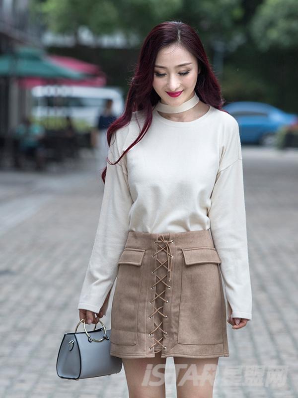 潮流绑带设计舒适休闲半裙