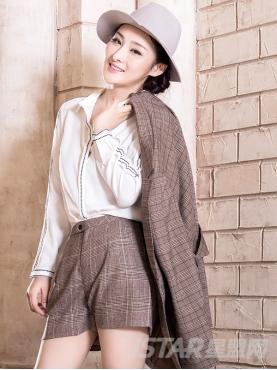 衣领刺绣装饰简约线纹优雅白衬衫