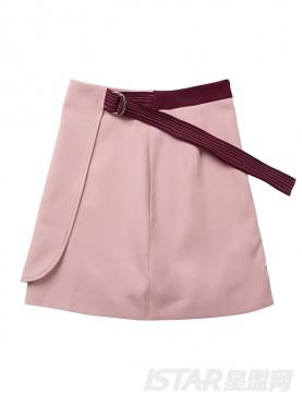 不对称搭片设计半裙