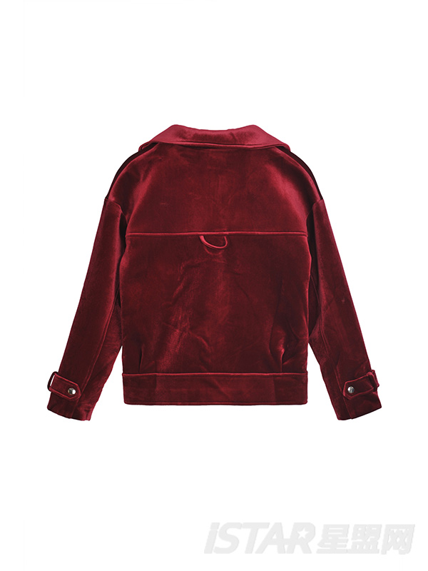 BF风金丝绒短款机车外套OVERSIZE潮味宽松夹克外套