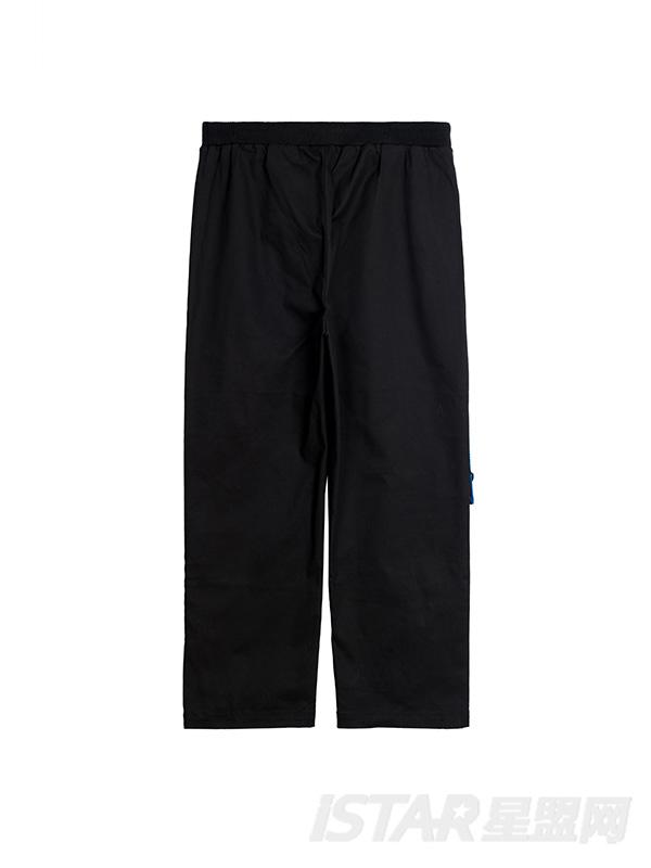 印花织带宽松休闲裤